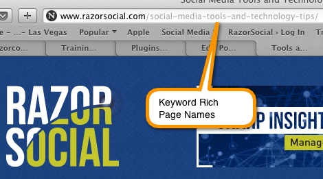 wordpress changes - Keywords in page names