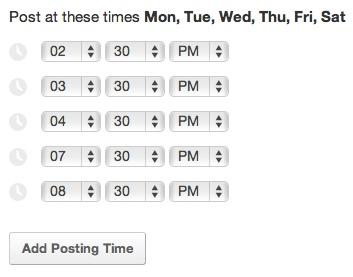 Buffer App Posting Schedule