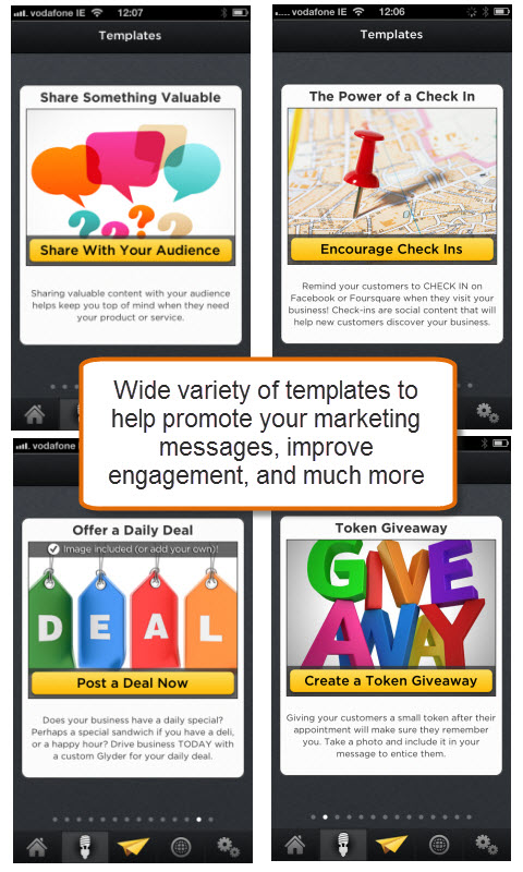 Glyder Marketing Templates