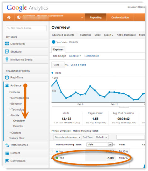 Google Analytics Mobile Traffic