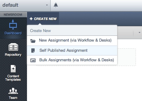 Create new assignment for beta out