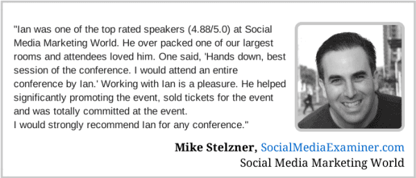Mike Stelzner - testimonial