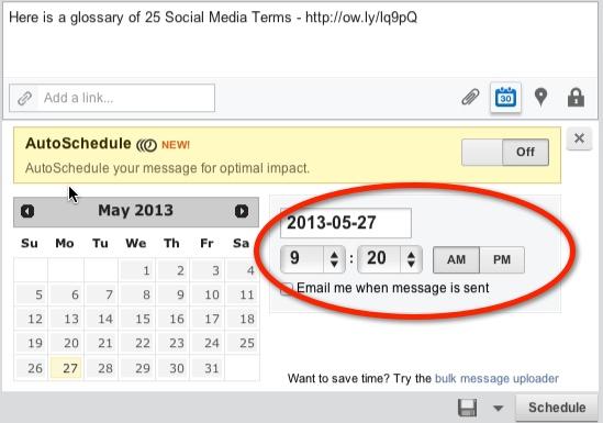 Hootsuite Scheduling