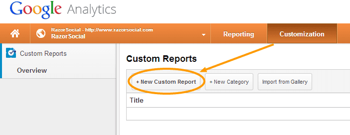 Create a new custom report