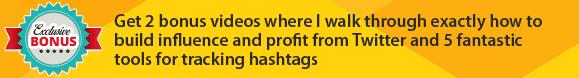 twitter hashtag bonus promo top