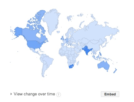 Google trends regional Interest