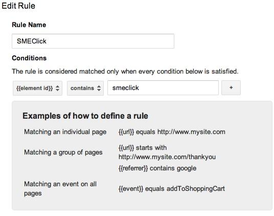 Ad Click rule