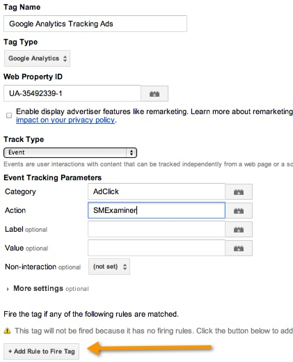 Google Analytics Tag