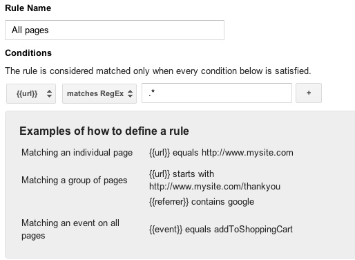 Google Tag Manager Matching Rule