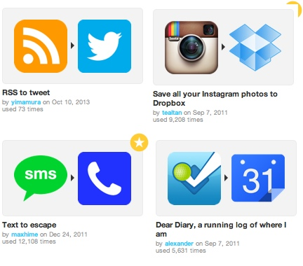 IFTTT Recipes