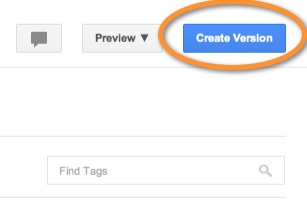 create version google tag manager
