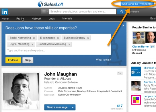 Salesloft Add Profile