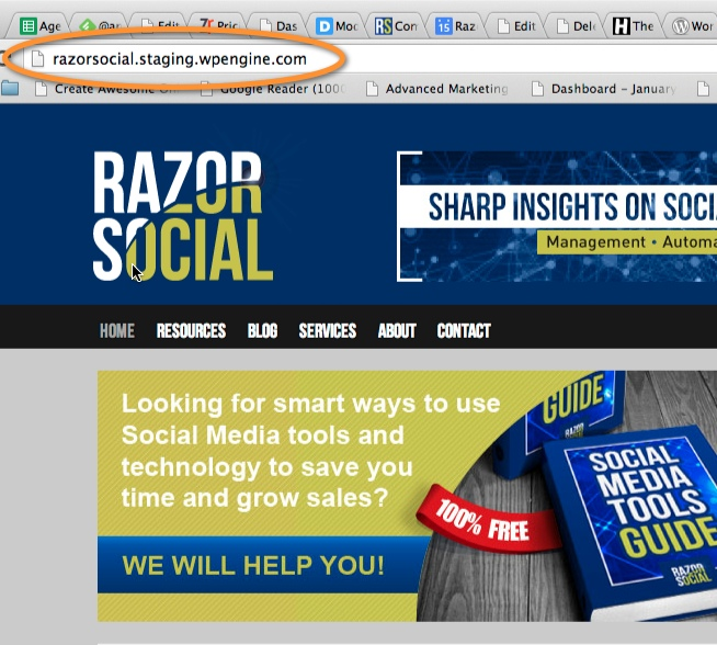 Razorsocial Staging