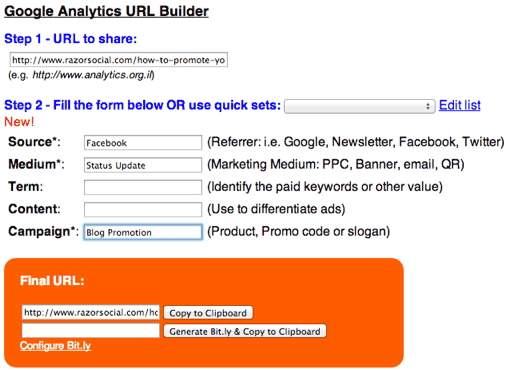 google url builder chrome plugin