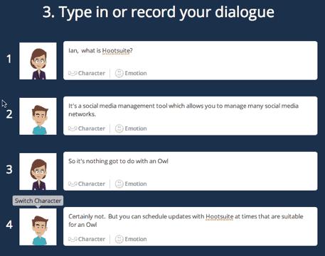 Goanimate record dialogue