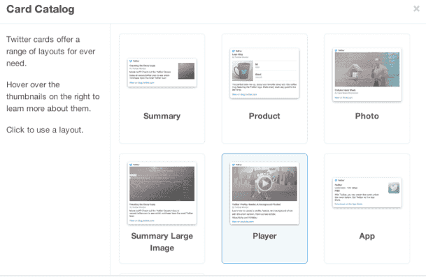 Twitter catalog