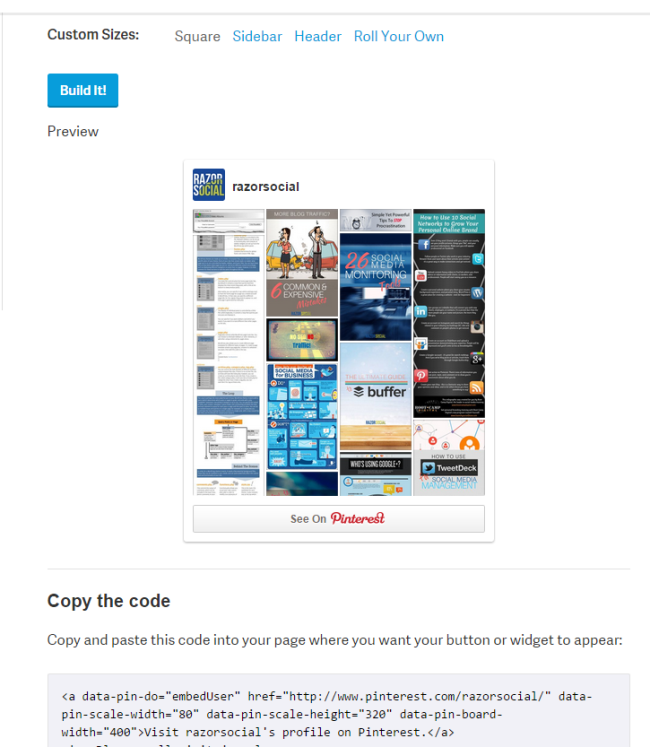 Widget Builder 2   Pinterest for Business