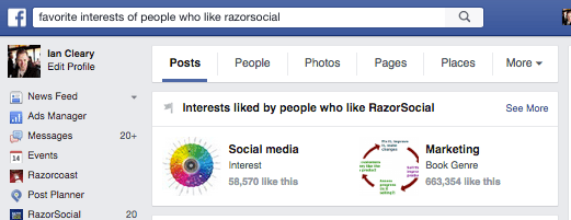 Facebook favorite interests