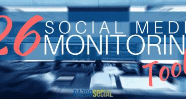 26 Social Media Monitoring Tools  (landscape)