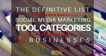 Definitive List of Social Media Marketing Tool Cateogories for Businesses (landscape)