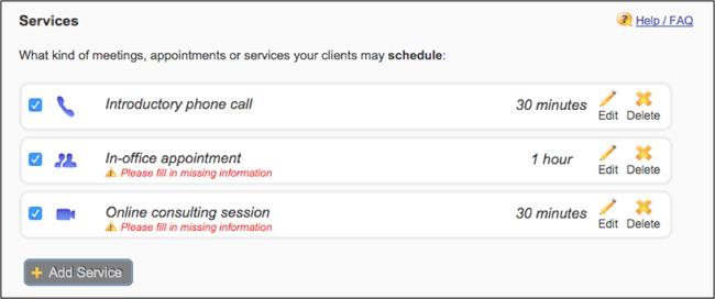 vcita service management