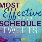 Ways to schedule tweets