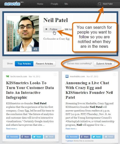 Newsle Neal Patel