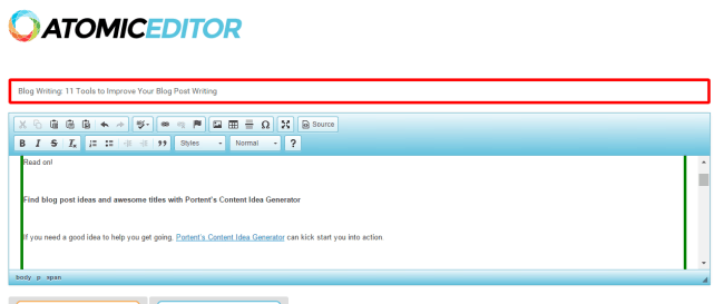 Atomic Editor a