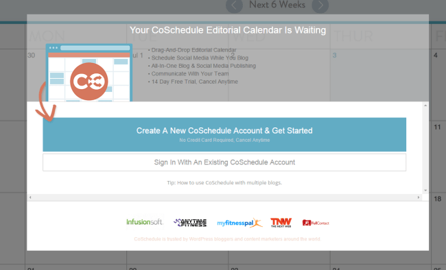 CoSchedule Calendar ‹ WordPress