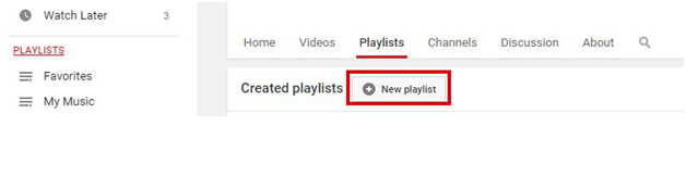 Create Playlist Youtube