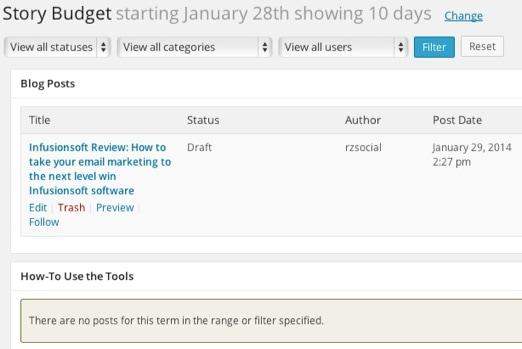Editflow Story Budget