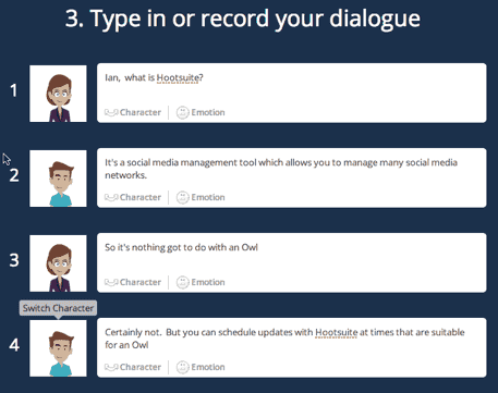 Goanimate record dialogue