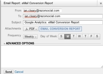 Google analytics email report setup