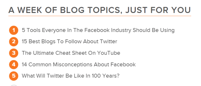 HubSpot s Blog Topic Generator 2