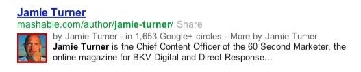 Jamie Turner on Mashable