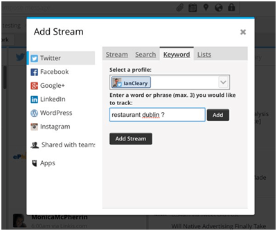 Keyword Filter in Hootsuite