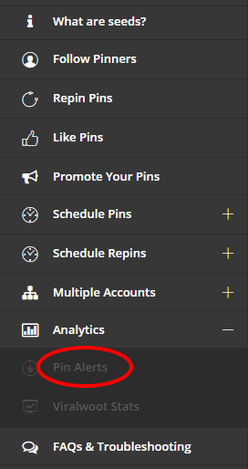Pinterest Analytics Alerts