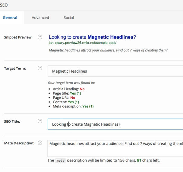 Rainmaker SEO Keyword Targeting