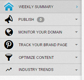 Tailwind Pinterest Analytics Menu