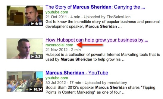 Marcus Sheridan Video on RazorSocial