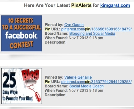 Pinalerts result
