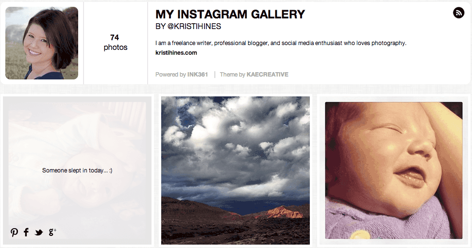 instagram tools - ink361 custom gallery