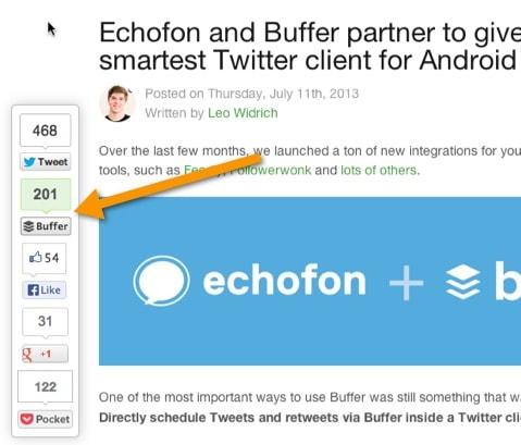 social sharing buffer